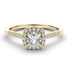 f26ac1a77 The Diamond Story 18ct yellow gold 0.66ct diamond halo ring - Product number…  Princess