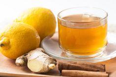 Regimes e chás para emagrecer: Chá de limão com gengibre para desintoxicar