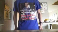Mijn zelfgemaakte t-shirt over Paul Walker