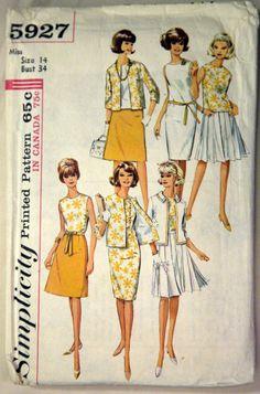 Rare MAD MEN 1960s Vintage Sewing Pattern by VintagePatternsPlus, $10.00
