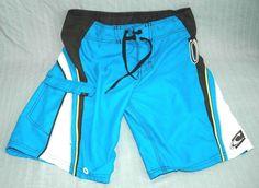 O'Neill Adult Size 28 Blue Black Board Shorts (ONeill Small Surf Surfing Surfer) #O'Neill #SurfingUSA #Surfing #Hurley #Billabong #Quiksilver