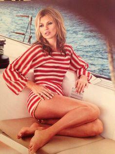 Kate Moss shot by Patrick Demarchelier in Vogue UK (June 2013) #destinationsummer #sttropez