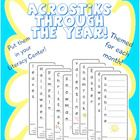 10 versions of acrostiks for your literacy or writing center!  $2.00