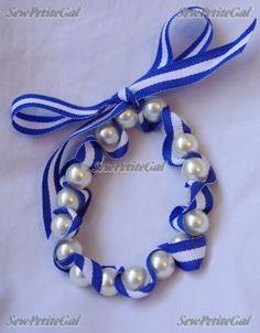 SewPetiteGal: DIY pearl ribbon bracelet