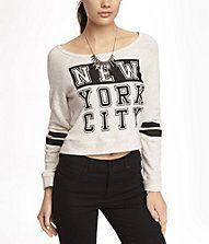 CROPPED GRAPHIC SWEATSHIRT - NEW YORK CITY
