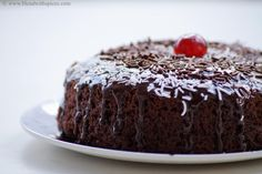 Eggless Chocolate Cake Recipe in Pressure Cooker – How to make Eggless Cake without Oven – Step by Step Photos - yum - Eggless Cake In Cooker, Chocolate Cake In Cooker, Egg Free Chocolate Cake, Eggless Chocolate Cake, Eggless Desserts, Eggless Baking, Chocolate Sponge, Chocolate Pudding, Crazy Cake Recipes