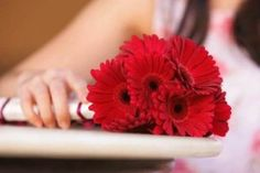 Red Gerbera Daisy   Fall Wedding Bouquets