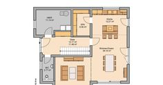 Massivhaus Kern-Haus Familienhaus Vero Grundriss Erdgeschoss