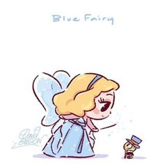 The Art of David Gilson — Disney's Chibies of Blue Fairy & Jiminy Cricket ,. Disney Pixar, Disney E Dreamworks, Disney Amor, Animation Disney, Disney Films, Disney Cartoons, Disney Magic, Cute Disney Characters, Animation Movies