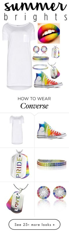 """""""summer brights"""" by emma17 on Polyvore featuring Converse, T By Alexander Wang, West Coast Jewelry and summerbrights"""