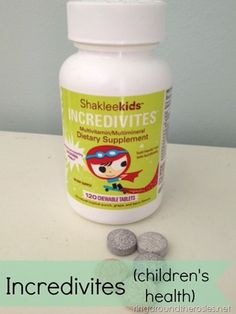 Shaklee Incredivites. El has taken Shaklee baby supplements & has never had a sick visit  Increditives are the 1st children's chewable multivitamin in the US w/ lactoferrin, which helps kids' immune systems stay supercharged, packed with 23 essential nutrients, it's the world's best kids' supplement-with 600 IU of vitamin D to support strong bones and teeth, and 100% of the Daily Value of all eight B vitamins and vitamin C. There are no fillers, artificial colors/flavors/etc.