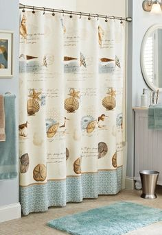 give your bathroom a refreshing seaside feel with our new bhg coastal collage shower curtain