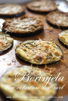 Low-carb au gratin eggplant - Almost like a mini pizza - fit eat/low carb - No Salt Recipes, Light Recipes, Low Carb Recipes, Cooking Recipes, Low Carp, Low Carb Diet, I Love Food, Food And Drink, Yummy Food