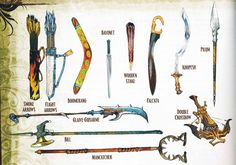Weapon Illustrations from the Advanced Pathfinder Player's Guide
