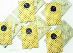 hand-stamped packaging with little flat bags and stickers by emadam.de