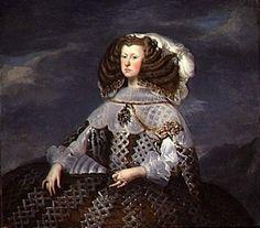 1660-Portrait of Mariana of Austria by Diego Velazquez