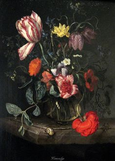 Attributed to Jacob van Walscapelle (1644–1727) Flowers in a Vase before 1727 Worcester Art Museum