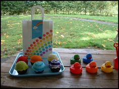 That Cute Little Cake: Rainbow party bags and favors