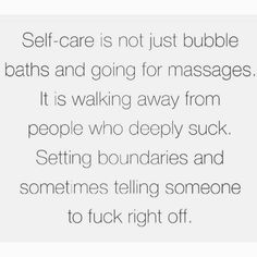 I could not agree more Just stumbled across this post by the beautiful @fiorella_klein and it made me giggle. . Not only because of its perfectly suitable use of swear words (they just emphasise things so well) but because it just seems so damn silly to willingly surround yourself with shit people! . Setting boundaries with yourself is so important when seeking overall health and wellbeing. If someone you often associate with makes you feel all sorts of uneasy then you probably shouldn't…