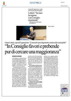Gianni Lettieri comunica il proprio disappunto sulla gestione scorretta del consiglio comunale di Napoli.