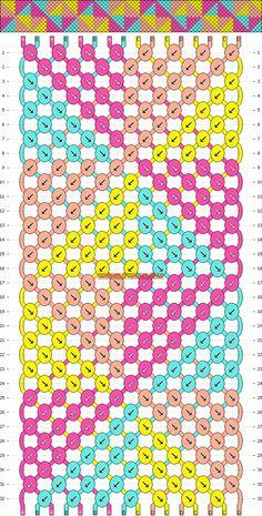 Learn how to tie your own friendship bracelets! _____ _____ _____ _____ _____ _____ _____ Friendship bracelet pattern 9913 by mikkomix Thread Bracelets, Embroidery Bracelets, Macrame Bracelets, Gold Bracelets, Diamond Earrings, Macrame Knots, Paracord Bracelets, Micro Macrame, Macrame Jewelry