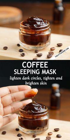 OVERNIGHT COFFEE FACE MASK DIY. Credits: thelittleshine.com