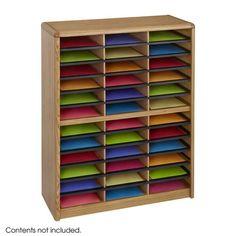 Safco 7121MO Value Sorter® Literature Organizer, 36 Compartment