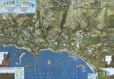 Артек (на основе аэрофотоснимка) http://crimea-tour.ru/maps/artek_aero.html