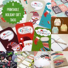 8 Holiday Gift Tags to Print At Home
