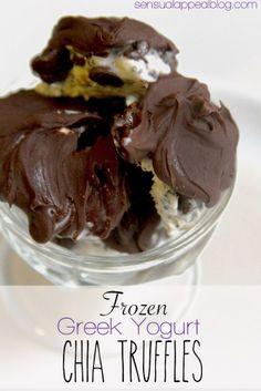 Frozen Greek Yogurt Chia Truffles..will modify to use ACTUAL greek yogurt instead of ben and jerrys fro yo.