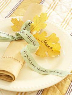 Thanksgiving Ribbon Napkin Ring