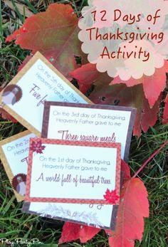 This 12 Days of Thanksgiving activity is a great way to teach toddlers gratitude and comes with a really fun list of Thanksgiving activities