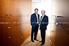Walter Bettinger & Charles Schwab pictures: Executive portrait photography of Chuck Schwab and Walt Bettinger, by San Francisco corporate photographer Eric Millette