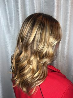 Hand painted balayage with lowlights to make a real natural looking hair color
