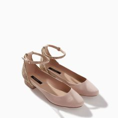 BALLERINA WITH SHINY ANKLE STRAP from Zara