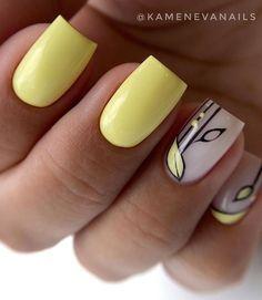 Nail Tip Designs, Nail Art Designs Videos, Purple Glitter Nails, Yellow Nails, Cute Nails, Pretty Nails, Manicure E Pedicure, Luxury Nails, Minimalist Nails