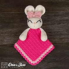 Olivia the Bunny Lovey / Security Blanket PDF by oneandtwocompany
