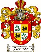 ACEVEDO Family Crest / ACEVEDO Coat of Arms