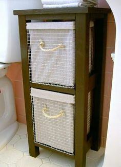 DIY: Teeny Storage Tower- for bathroom or Printer Stand