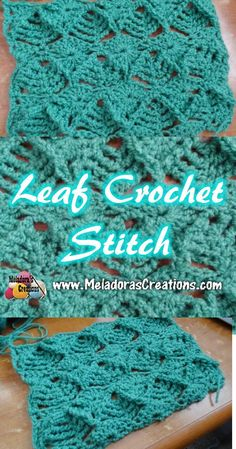 Share this: Crochet tutorial that teaches you how to do this textured leaf crochet stitch. Find more crochet stitches here on the category Crochet Stitches. Leaf Crochet Stitch Tutorial This page… Crochet Video, Crochet Geek, Crochet Crafts, Easy Crochet, Crochet Hooks, Crochet Projects, Free Crochet, Crochet Motifs, Crochet Stitches Patterns