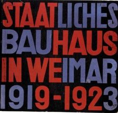 """Herbert Bayer (cover design) / László Moholy-Nagy (typography), """"Staatliches Bauhaus in Weimar 1919-1923"""", Cover of the Bauhaus Exhibition Catalogue, 1923 Bauhaus Archive / Museum of Design, Berlin (4510)"""