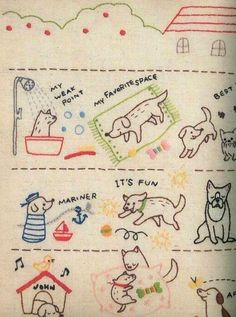 """kawaii puppy embroidery  (sold; etsy says it was a Chinese translation of a Japanese original."""")    #badges"""