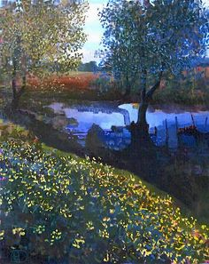 Little Creek Original Oil by Ton Dubbeldam