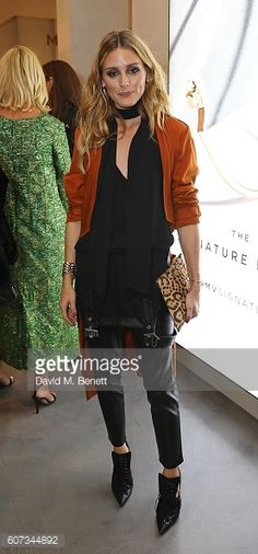 Olivia Palermo attends an intimate dinner hosted by Monica Vinader to celebrate Fashion Artist Jenny Walton's illustrations of the iconic Signature...