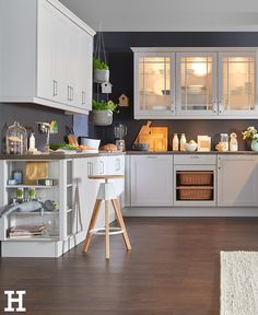 Beleuchtete Hängeschränke Schaffen Ein Indirektes Licht In Der Küche. #küche  #einrichtung #idee
