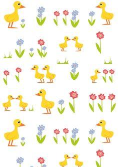 FREE printable springy nursery pattern   littlechildren