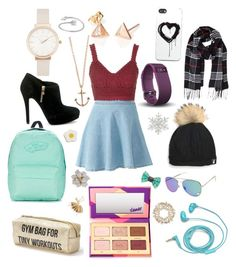 """Untitled #42"" by leahwoodcock on Polyvore featuring Topshop, tarte, Tri-coastal Design, Vans, MICHAEL Michael Kors, Minor Obsessions, Olivia Burton, Fitbit, Humble Chic and Zero Gravity"