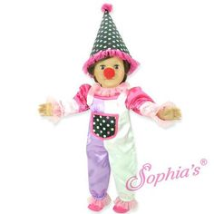 Clown Costume Fits 18 Inch American Girl Doll Clothes