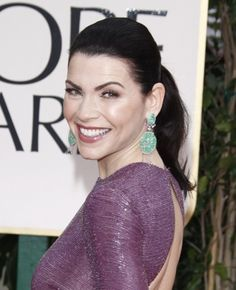 Julianna Margulies slicked back ponytail
