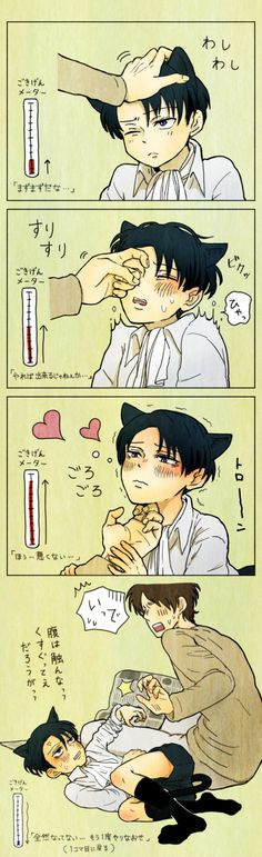Eren and Neko Levi // AoT